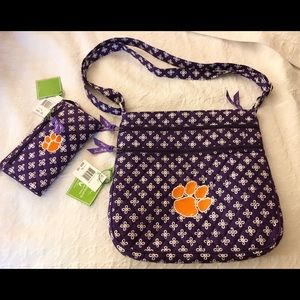 Vera Bradley Quilted Clemson Tigers Paw Crossbody